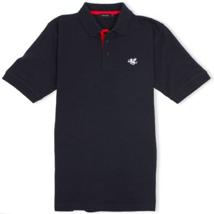 Senlak Striped Under Collar Polo Shirt - Navy